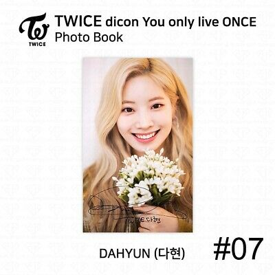 TWICE x dicon You Only Live ONCE Card Photo Book Postcard Dahyun KPOP K-POP 10