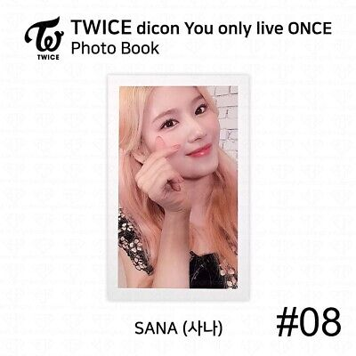 TWICE x dicon You Only Live ONCE Card Photo Book Postcard Sana KPOP K-POP 11