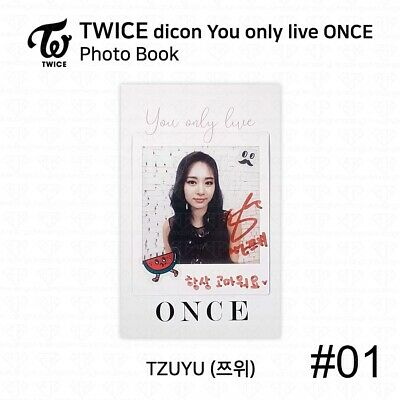 TWICE x dicon You Only Live ONCE Card Photo Book Postcard Tzuyu KPOP K-POP 4