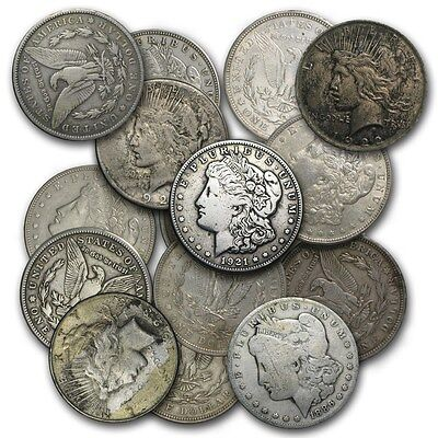 (1) Morgan Or Peace Silver Dollar Cull Coin! Investment Silver Coins! Variety! 2