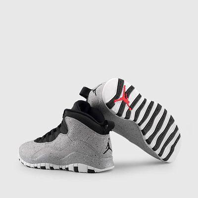 Nike Air Jordan Retro X 10 CEMENT Light Smoke Grey 310805-062 Lot Sz 5y-10.5