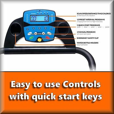 BLUETOOTH NERO PRO TREADMILL Electric Motorised Folding Running Machine 10