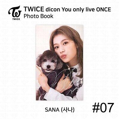 TWICE x dicon You Only Live ONCE Card Photo Book Postcard Sana KPOP K-POP 10