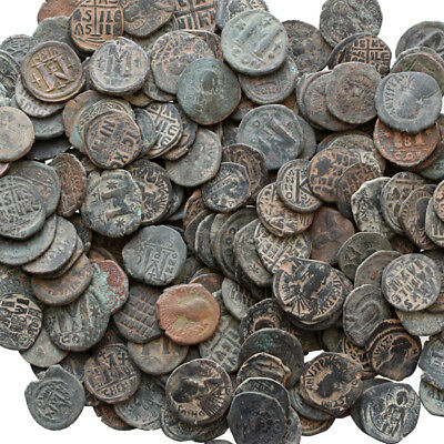 Top Quality Of Big Bronze Follis Or Half Follis Byzantine Coins , One Bib 10 Coi 6