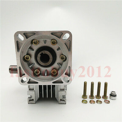 NEMA24 Worm Speed Reducer Gearbox 10 15 20 25 30 40 50 60 100:1 fr Stepper Motor 4