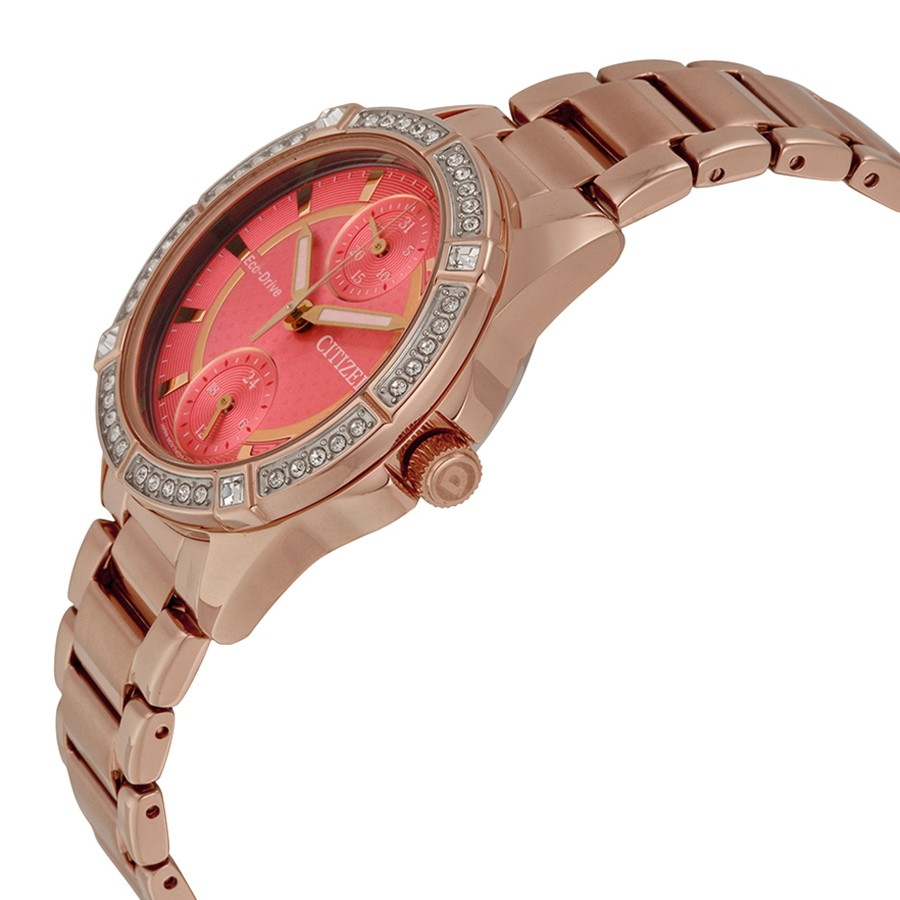Citizen Eco-Drive Women's POV Crystal Accents Rose Gold-Tone Watch FD3003-58X 2