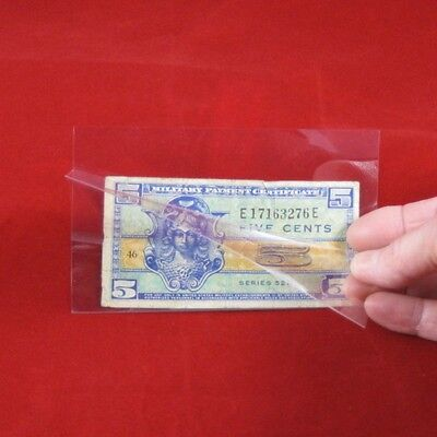 100 Museum Grade Archival Mylar Currency Sleeves for US Cover Size MG460