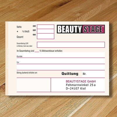 Quittungsblock Mit Persönlichem Design Drucken Din A6
