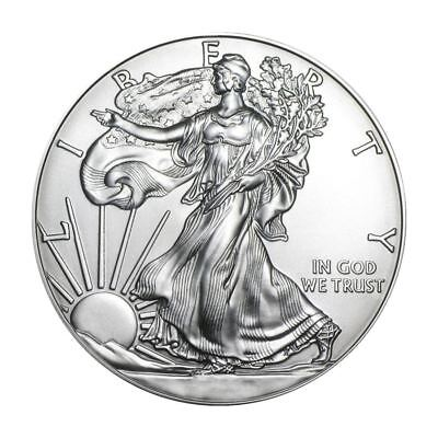 Silver Eagle 1 oz Coin Lot of 100 Random Dates In Mint Tubes 2