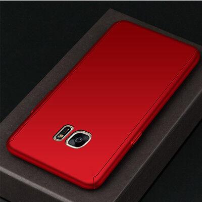 For Samsung J4 J6 Plus J8 / J3 J5 J7 Pro 360° Full Cover Case + Tempered Glass 9