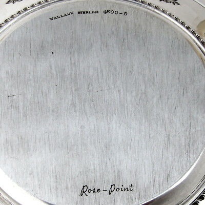 Rose Point Bread and Butter Plates Set of 4 Sterling Silver Wallace 1934 4