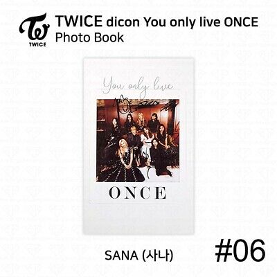 TWICE x dicon You Only Live ONCE Card Photo Book Postcard Sana KPOP K-POP 9