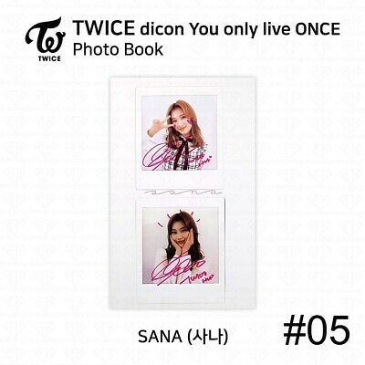 TWICE x dicon You Only Live ONCE Card Photo Book Postcard Sana KPOP K-POP 8