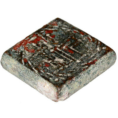 Intact Byzantine Bronze Carved Square Weight For 3 Solidus Circa 500-700 Ad 2
