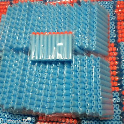 100x Bullet Darts For NERF Kids Toy Gun N-Strike Round Head Blasters #S Sky Blue 4