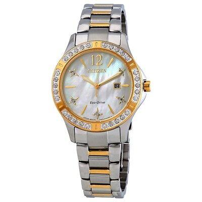 Citizen Eco-Drive Elektra Women's Diamond Accents Two-Tone 32mm Watch EW2514-59D 2