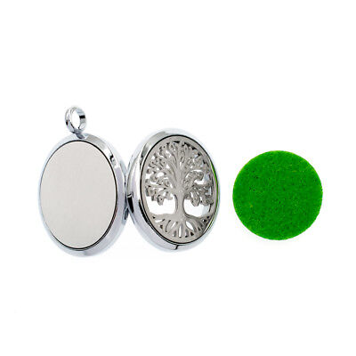 Aroma Diffuser 30mm pendant Necklace Lockets Perfume Essential Oil Aromatherapy 4