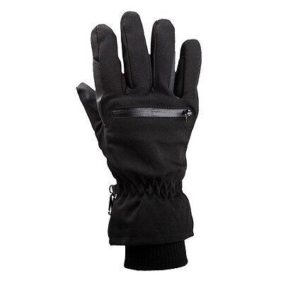 1 Pair Adult Black Winter Warm Zipper Horse Riding Equestrian Gloves