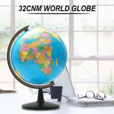 32cm World Globe Map Blue Ocean Geography Educational Toy Gift With Swivel Stand 3