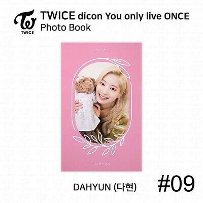 TWICE x dicon You Only Live ONCE Card Photo Book Postcard Dahyun KPOP K-POP 12