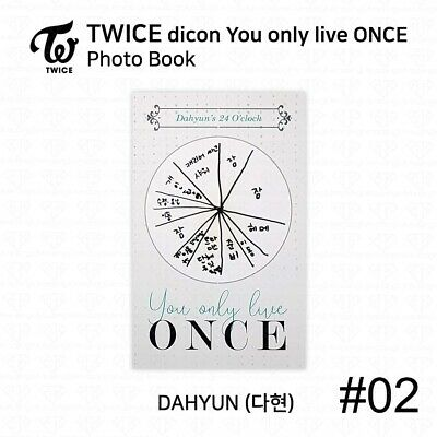 TWICE x dicon You Only Live ONCE Card Photo Book Postcard Dahyun KPOP K-POP 5