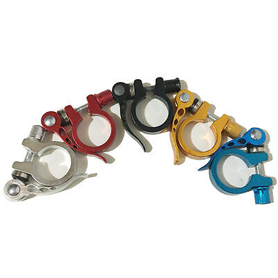 MTB Road Bike Bicycle 31.8mm Seat Post Saddle Clamps Clamp Quick Release TBIS790