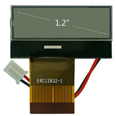 """2.9/""""//128x64 Blue COG LCD Module Graphic Display,ST7565 w//Tutorial,Connector"""