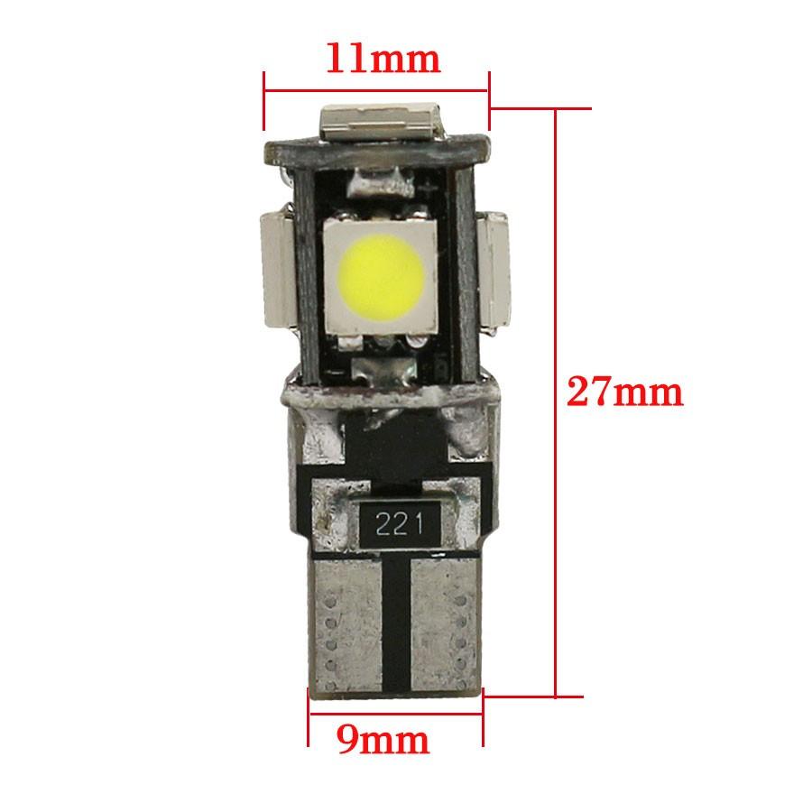 4x Canbus LED Error Free T10 6000k HID White W5W Bulbs Side Parking Lights 12V 5