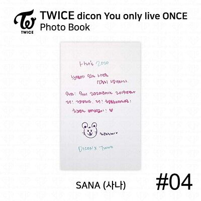 TWICE x dicon You Only Live ONCE Card Photo Book Postcard Sana KPOP K-POP 7