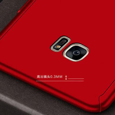 360° Full Cover Case + Tempered Glass For Samsung J3 J5 J7 Pro / J8 J6 J4 Plus 4