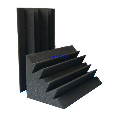 "32 PACK 4.7*4.7*9.4""Corner Bass Trap Studio Acoustic Foam Treatment"