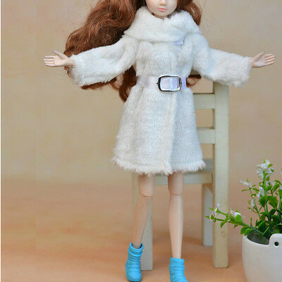 Kid Playhouse Toy Doll Accessories Winter Wear Pink Coat Clothes For 1/6 Doll 5