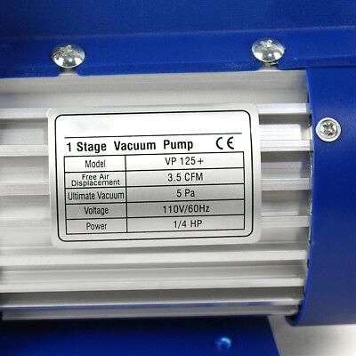 3,5 CFM Rotary Vane Vacuum Pump 1/4HP HVAC R134a Air Refrigerant Conditioning 12