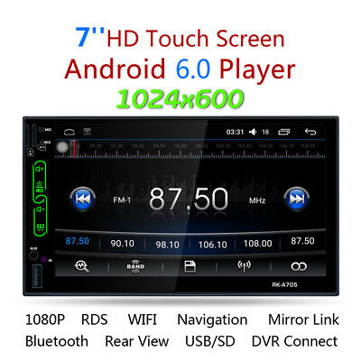 "7"" TFT Touch Screen 2DIN Car Radio AM FM MP5 Player GPS Android WIFI Bluetooth"