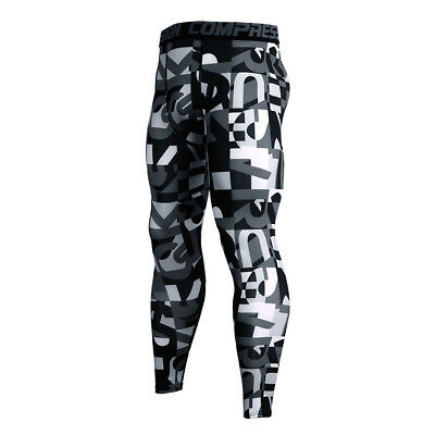 53803f665701e ... Men's Compression Pants Running Basketball Gym Long Tights Wicking Camo  Dri fit 3