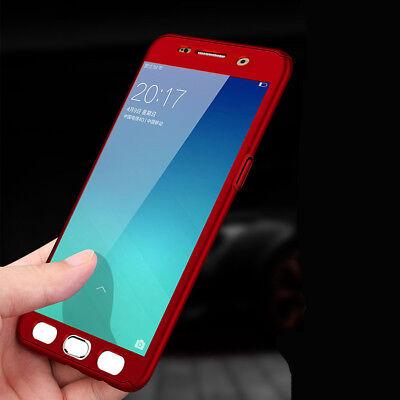 For Samsung J4 J6 Plus J8 / J3 J5 J7 Pro 360° Full Cover Case + Tempered Glass 7