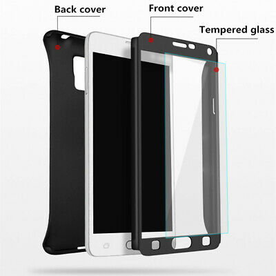 For Samsung Galaxy J4 J6 Plus J8 / J3 J5 J7 Pro Full Cover Case + Tempered Glass 3