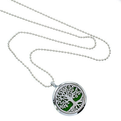 Aroma Diffuser 30mm pendant Necklace Lockets Perfume Essential Oil Aromatherapy 7
