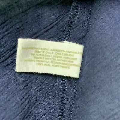 $120 New XL Skin sheer  long 100% cotton shirt top blouse 3 UK XL navy blue 12