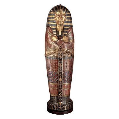 King Tutankhamen Sarcophagus Cabinet 6¼ feet Egyptian Pharaoh King Tut 3