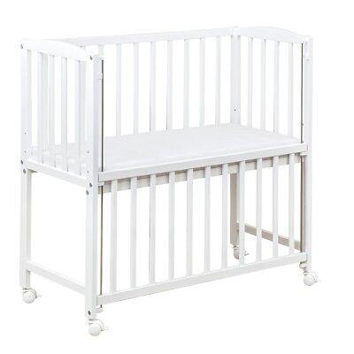Beistellbett Babybett 90x40cm höhenverstellbar weiß Matratze Räder