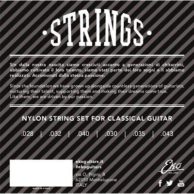 Eko Strings Offerta Di 2 Set Corde Per Chitarra Classica Due Cordiera In Nylon 2