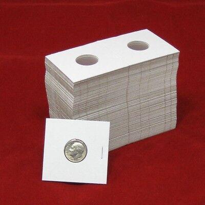 100 Cardboard 2x2 Coin Holder Mylar Flips for Dime 3