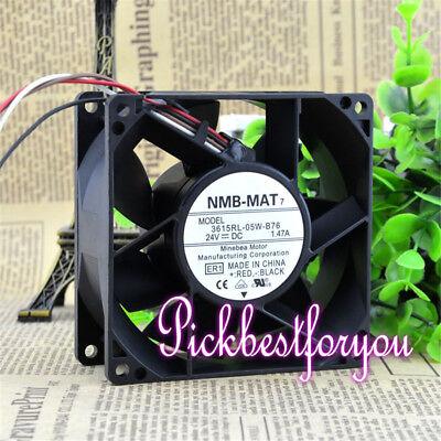 1pcs NMB 3615RL-05W-B76 9038 24V 1.47A Inverter Fan #M546B QL 2