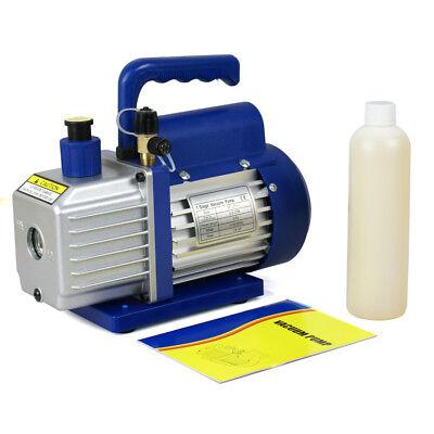 1/4hp Rotary Vane Deep Vacuum Pump 3.5CFM R410a R134 HVAC AC Refrigerant Charge 4
