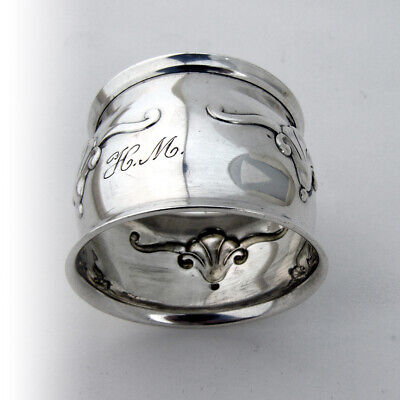 Arts And Crafts Shell Napkin Ring Danish 830 Silver 1930 Mono 2
