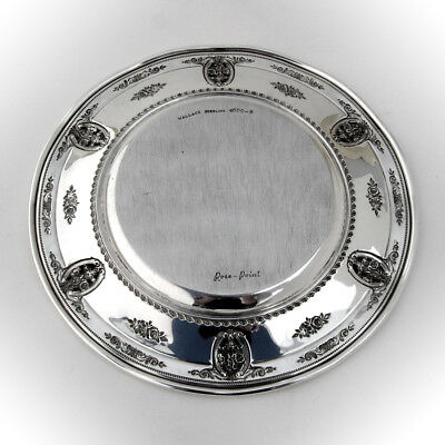 Rose Point Bread and Butter Plates Set of 4 Sterling Silver Wallace 1934 3