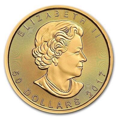 2017 Canada 1 oz Gold Maple Leaf Coin Brilliant Uncirculated - SKU #115850 2