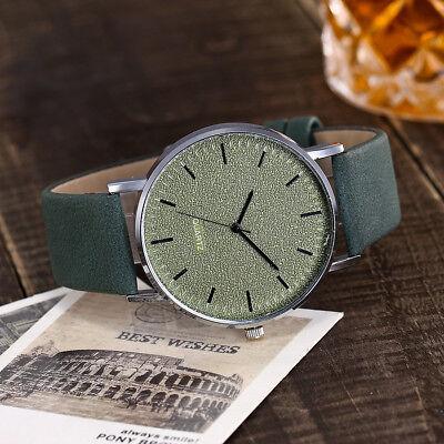 Unisex Fashion Casual Women's Watches Men Leather Bracelet Quartz Wrist Watch 3