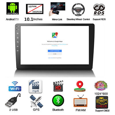 """Android 8.1 Double 2Din 10.1"""" HD Quad-Core Car Stereo Radio GPS Wifi Mirror Link 5"""